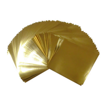7.9x7.9inches(20x20cm) Large Size Foil Color Origami Folding Paper 90 Sheets Set, Metallic Color Paper, Gold, GuCra