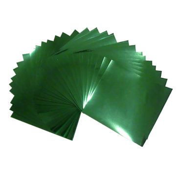 7.9x7.9inches(20x20cm) Large Size Foil Color Origami Folding Paper 30 Sheets Set, Metallic Color Paper, Green, GuCra