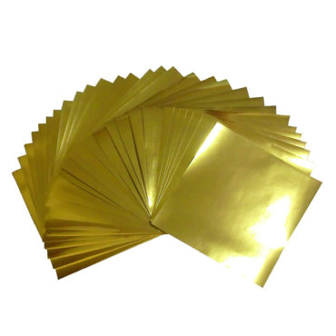 7.9x7.9inches(20x20cm) Large Size Foil Color Origami Folding Paper 30 Sheets Set, Metallic Color Paper, Gold, GuCra