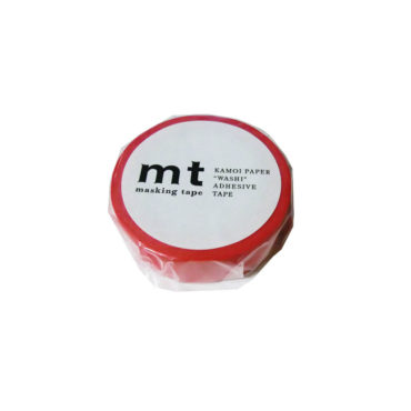 """T Solids Washi Paper Masking Tape, 3/5"""" x 33', 15mm x 10m, Red (MT01P181)"""